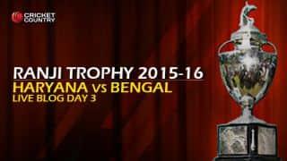 Live Cricket Score Haryana vs Bengal, Ranji Trophy 2015-16 Group A match, Day 3 at Rohtak