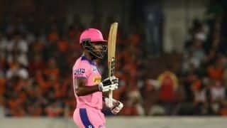 सैमसन के तेजतर्रार शतक के दम पर राजस्थान ने 2 विकेट पर 198 रन बनाए