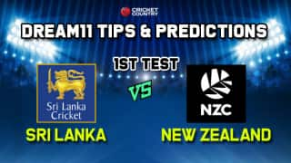 Dream11 Team Sri Lanka vs New Zealand Test series 2019 – Cricket Prediction Tips For Today's Test Match SL vs NZ at Galle