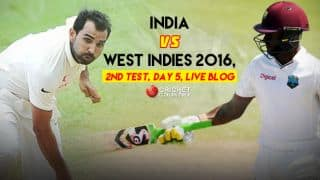 WI 388/6, 104 overs | India vs West Indies 2nd Test, Day 5 Live Updates: Match drawn