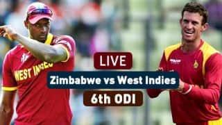 Live Cricket Score, ZIM vs WI, Tri-Nation series, 6th ODI: ZIM win by 5 runs (D/L Method)