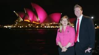 Glenn McGrath commemorates a decade of McGrath foundation by turning Sydney Opera House pink