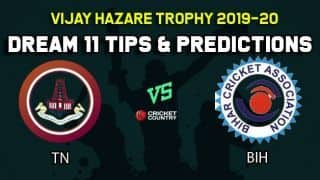 Dream11 Team Tamil Nadu vs Bihar, Round 4, Elite Group C Vijay Hazare Trophy 2019 VHT ODD – Cricket Prediction Tips For Today's Match TN vs BIH at Jaipur