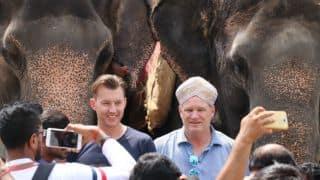 मैसूर पैलेस घूमने गए ब्रेट ली को हाथी ने दिया आशीर्वाद