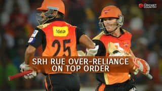 Sunrisers Hyderabad in IPL 2015: SRH rue over-reliance on top order, inconsistent selection