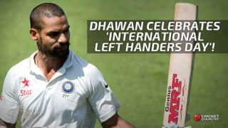 Shikhar Dhawan celebrates 'International Left Handers Day' with his 4th Test century in India vs Sri Lanka 1st Test at Galle