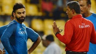 After having a lucky escape on Virat Kohli's shot during India vs Sri Lanka T20I match Umpire Ruchira Palliyanguruge says he won't use helmet