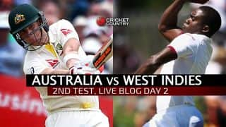 WI 91/6 in 43 overs │Live Cricket Score, Australia vs West Indies 2015-16, 2nd Test at Melbourne, Day 2: WI trail by 460 at stumps