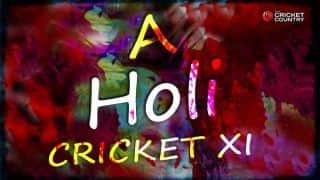A Holi cricket XI