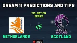 NED vs SCO Dream11 Team Netherlands vs Scotland, 2nd T20I, Ireland Tri-Nation T20I Series 2019 – Cricket Prediction Tips For Today's Match NED vs SCO at Dublin