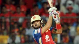 IPL 2016: RCB reach 96-3 in 12 overs; Virat Kohli, AB de Villiers out in succession