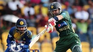 Sri Lanka vs Pakistan 2014, 3rd ODI at Dambulla: Ahmed Shehzad dismissed