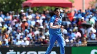 डेब्यू मैच में ही नवदीप सैनी ने तोड़ा नियम, आईसीसी ने सुनाई सजा