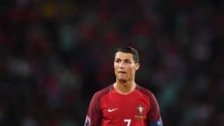 Euro 2016: Cristiano Ronaldo throws reporter's microphone into lake