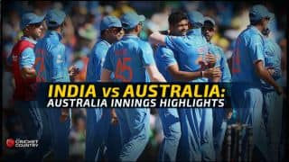 India vs Australia semi-final: Australian innings highlights