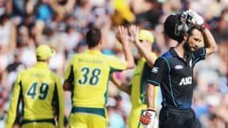 Grant Elliot's fifty ensures New Zealand post 246 against Australia in 3rd ODI at Hamilton
