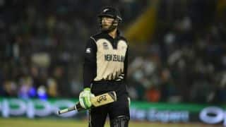 Martin Guptill dismissed for 15 by David Willey against England in 1st semi-final of T20 World Cup 2016