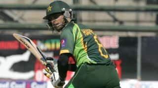 Hafeez, Azam guide Pakistan to 296/9 in 3rd ODI vs Zimbabwe at Lahore