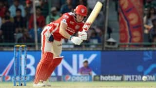 David Miller dismissed for 11 by Pawan Negi against Chennai Super Kings in IPL 2015