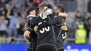 New Zealand overcome brave Brathwaite to remain unbeaten and go top