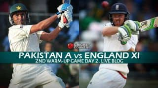 ENG XI 198/10 | Live Cricket Score Pakistan A vs England XI 2015, 2nd tour match at Sharjah, Day 2: End of Play as James Taylor gets out on 61
