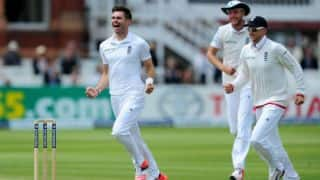 James Anderson picks up his 400th Test wicket for England