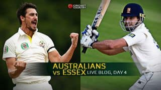 Live Cricket Score, Australians vs Essex at Chelmsford, Day 4 Essex 200 all out : Starc, Hazlewood lead AUS to 169-run win