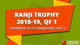 Ranji Trophy 2018-19, QF 1, Day 3: Wasim Jaffer's double century pushes Vidarbha's lead to 204 against Uttarakhand