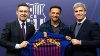 Rahul Dravid visits Camp Nou, watches Barcelona superstar Lionel Messi in action