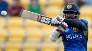 Lahiru Thirimanne dismissed for 41 by Imran Tahir against South Africa in ICC Cricket World Cup 2015