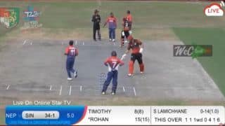 T20 World Cup Asia Region Final: Singapore defeat Nepal to seal spot in ICC T20 World Cup Qualifier