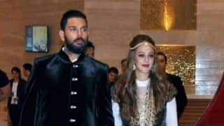 Mr and Mrs Yuvraj Singh does bhangra at Goa airport; video goes viral