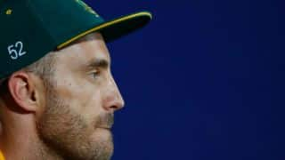 Pakistan vs World XI: Faf du Plessis compares the last 24 hours with a movie script