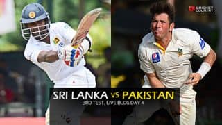 Live Cricket Score Sri Lanka vs Pakistan 2015, 3rd Test at Pallekele, Day 4 PAK 230/2: Pakistan close in on a win
