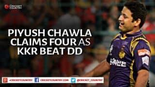 Piyush Chawla's 4-wicket haul ensures Kolkata Knight Riders beat Delhi Daredevils by 13 runs