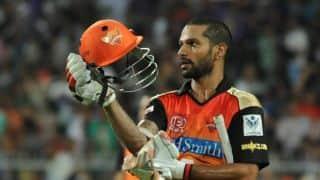Shikhar Dhawan, Yuvraj Singh guide Sunrisers Hyderabad to 177-3 against Mumbai Indians in Match 37 of IPL 2016