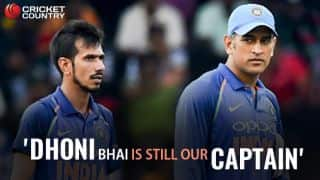 Dhoni is still our captain: Chahal