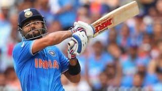 Virat Kohli and Ajinkya Rahane look to steer India home against Ireland in ICC Cricket World Cup 2015