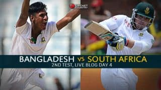 Live Cricket Score Bangladesh vs South Africa 2015, 2nd Test at Dhaka, Day 4: Rain forces stumps again!