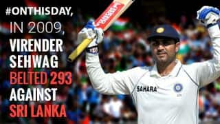 VIDEO: Virender Sehwag smashes 293 in Mumbai against Sri Lanka in 2009