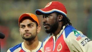 Chris Gayle, Virat Kohli dismissed in Royal Challengers vs Rajasthan Royals IPL 2015 Match 29 at Bangalore