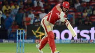 Kings XI Punjab score 100 against Rajasthan Royals in Match 18 of IPL 2015