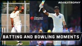 Ranji Trophy 2014-15: Batting and bowling highlights of the Day 2 of Round 8