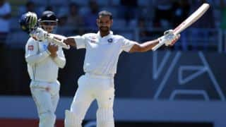 Shikhar Dhawan scores ton but New Zealand hold advantage at tea on Day 4 of 1st Test