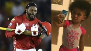 IPL 2018: Chris Gayle dedicates his 1st hundred for KXIP to daughter Krisallyna