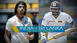 SL 268 | Live Cricket Score, India vs Sri Lanka 2015, 3rd Test in Colombo, Day 5: India win by 117 runs, take series 2-1