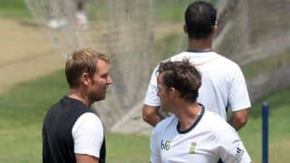 ICC World T20 2014: Shane Warne makes his presence felt at South Africa practice