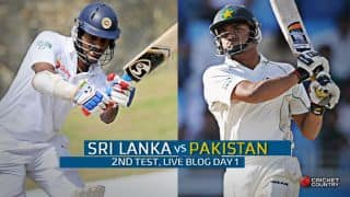 Live Cricket Score Sri Lanka vs Pakistan 2015, 2nd Test, Day 1 SL 48/0: SL begin safely after visitors bowled out for 138