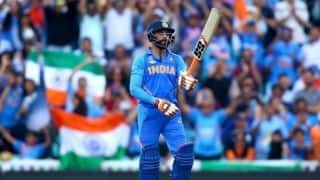 ICC World Cup 2019 warm-up: Ravindra Jadeja's 54 takes India to 179 after top order falters against New Zealand
