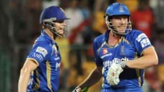 Steven Smith, James Faulkner stun Royal Challengers Bangalore to help Rajasthan Royals win in IPL 2014